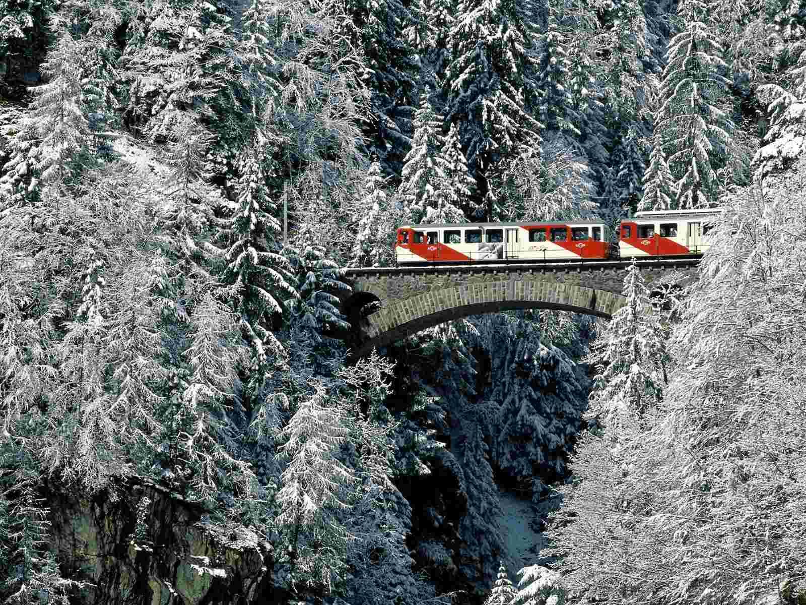 На поезде по югу Швейцарии