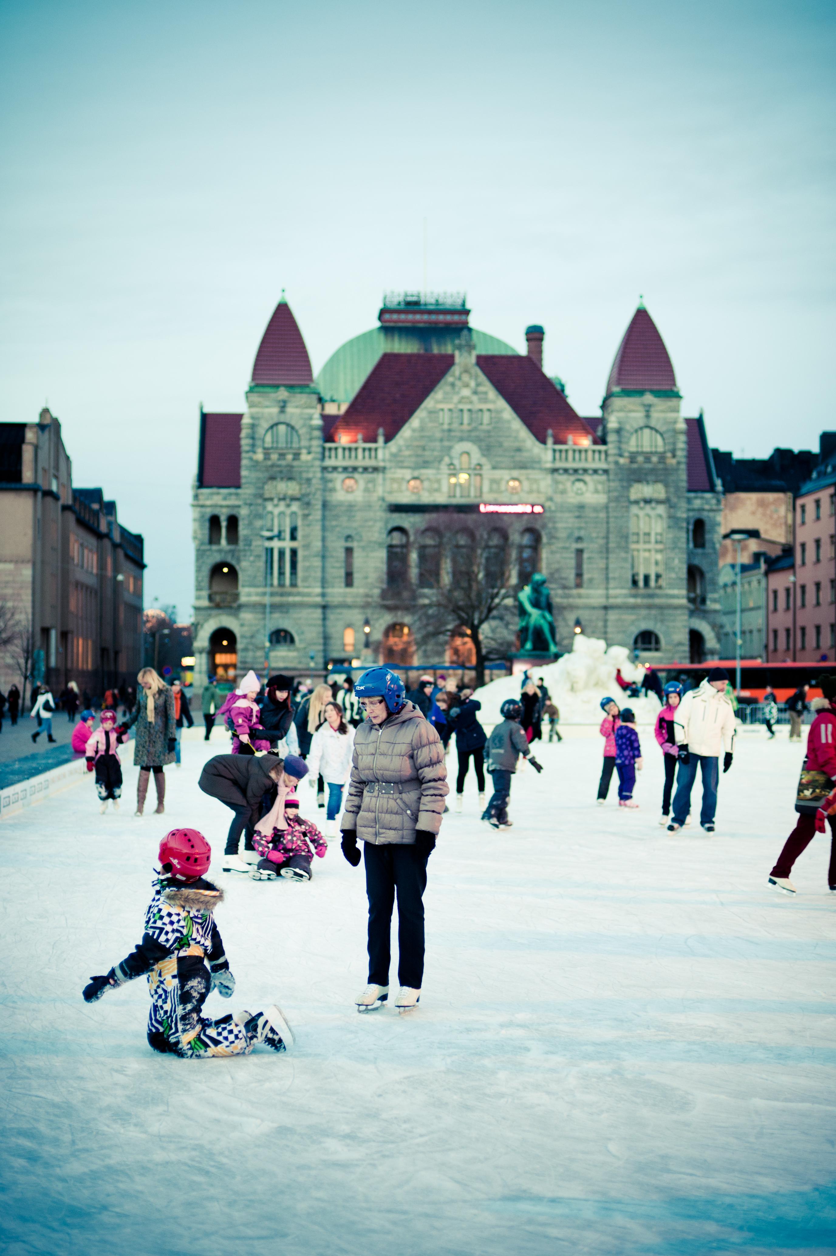 Каток в Хельсинки