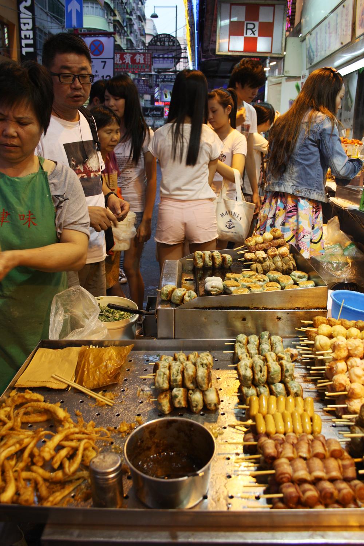 Уличная еда в районе Монг Кок