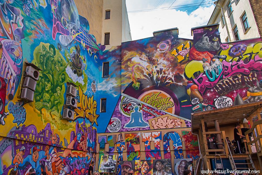 «Граффити-двор» на Лиговском проспекте