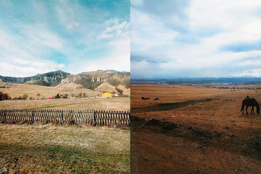 По ту сторону гор. Горнолыжный курорт Домбай на Кавказе