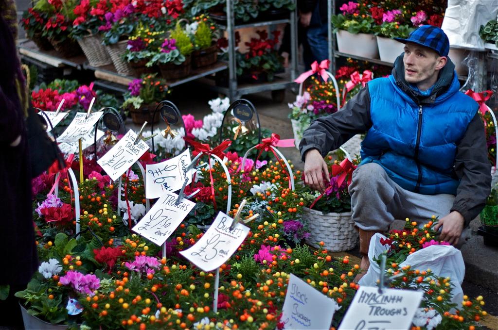 Цветочный рынок на Columbia road