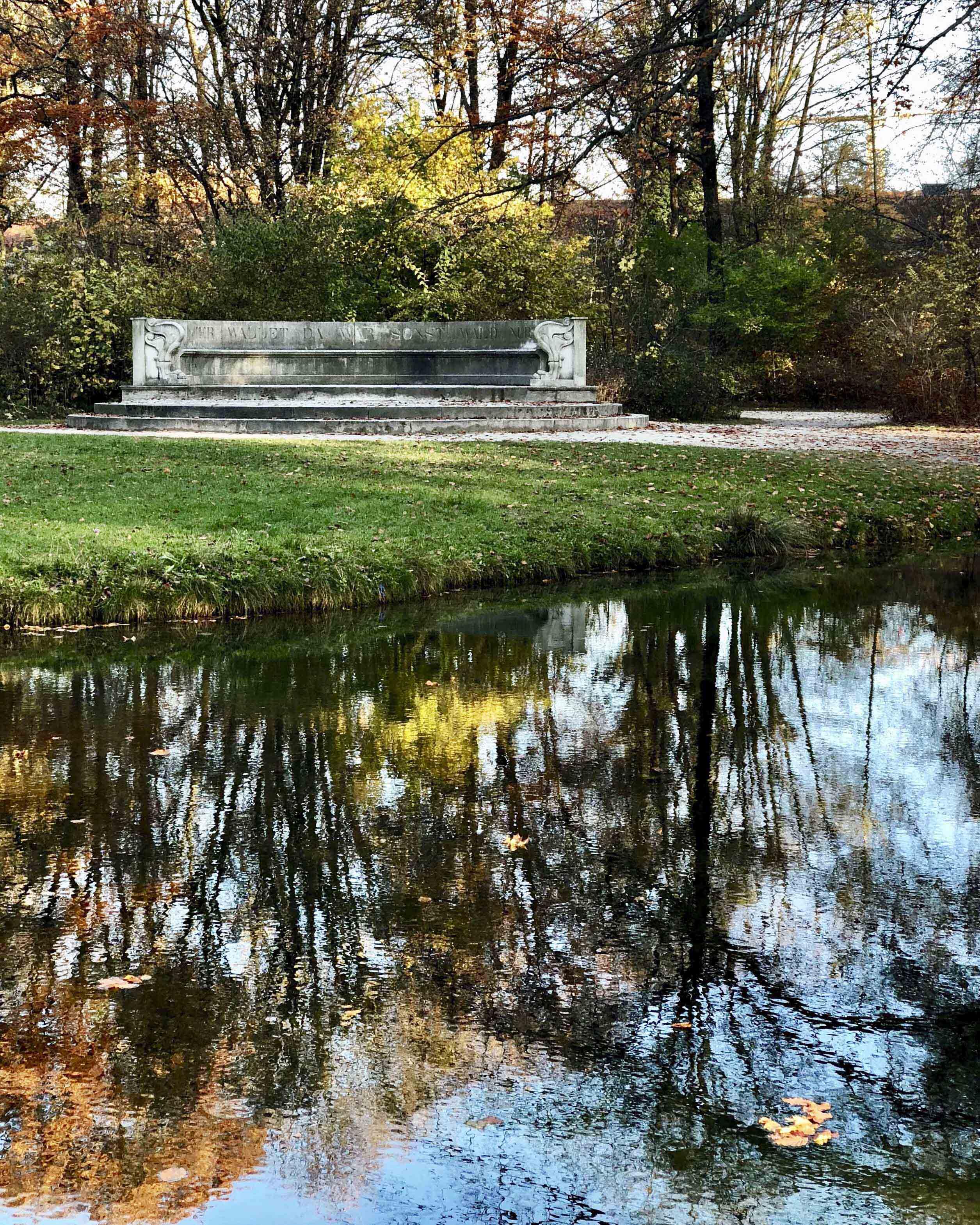 Скамья Лео фон Кленце в мюнхенском Английском саду