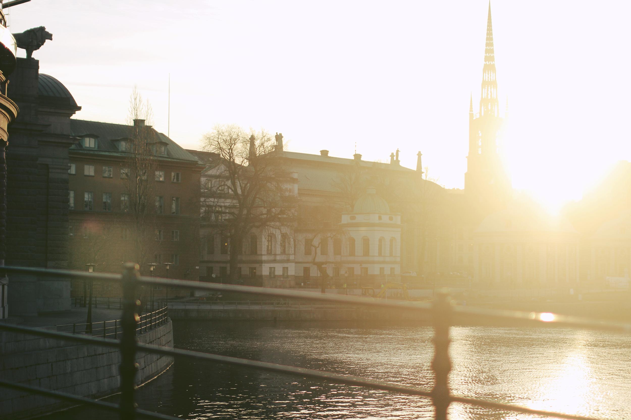 Идеальный солнечный день в Стокгольме