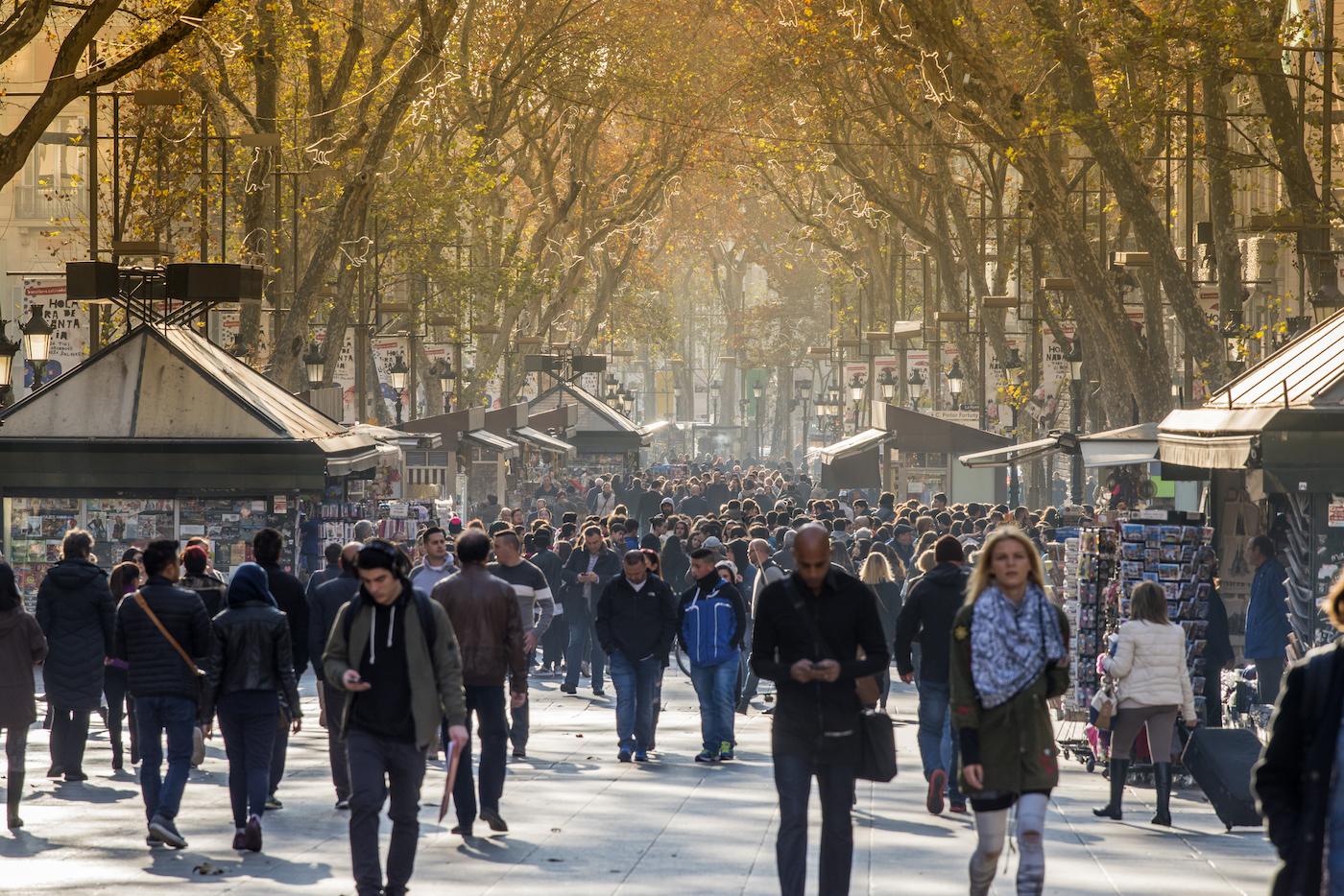 День на улицах Барселоны
