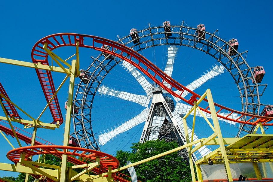 Парки развлечений в Европе и Азии.