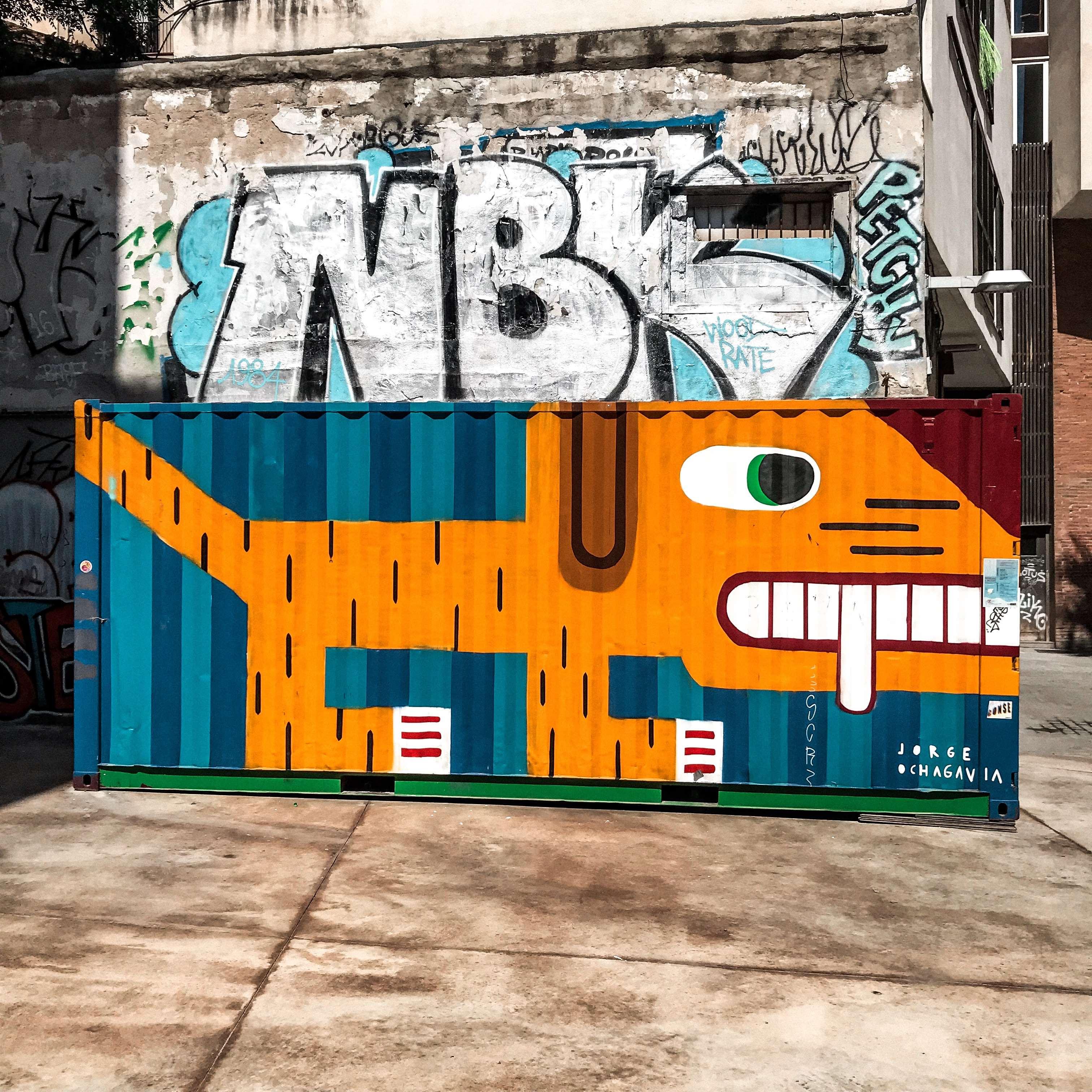 Граффити в квартале El Born