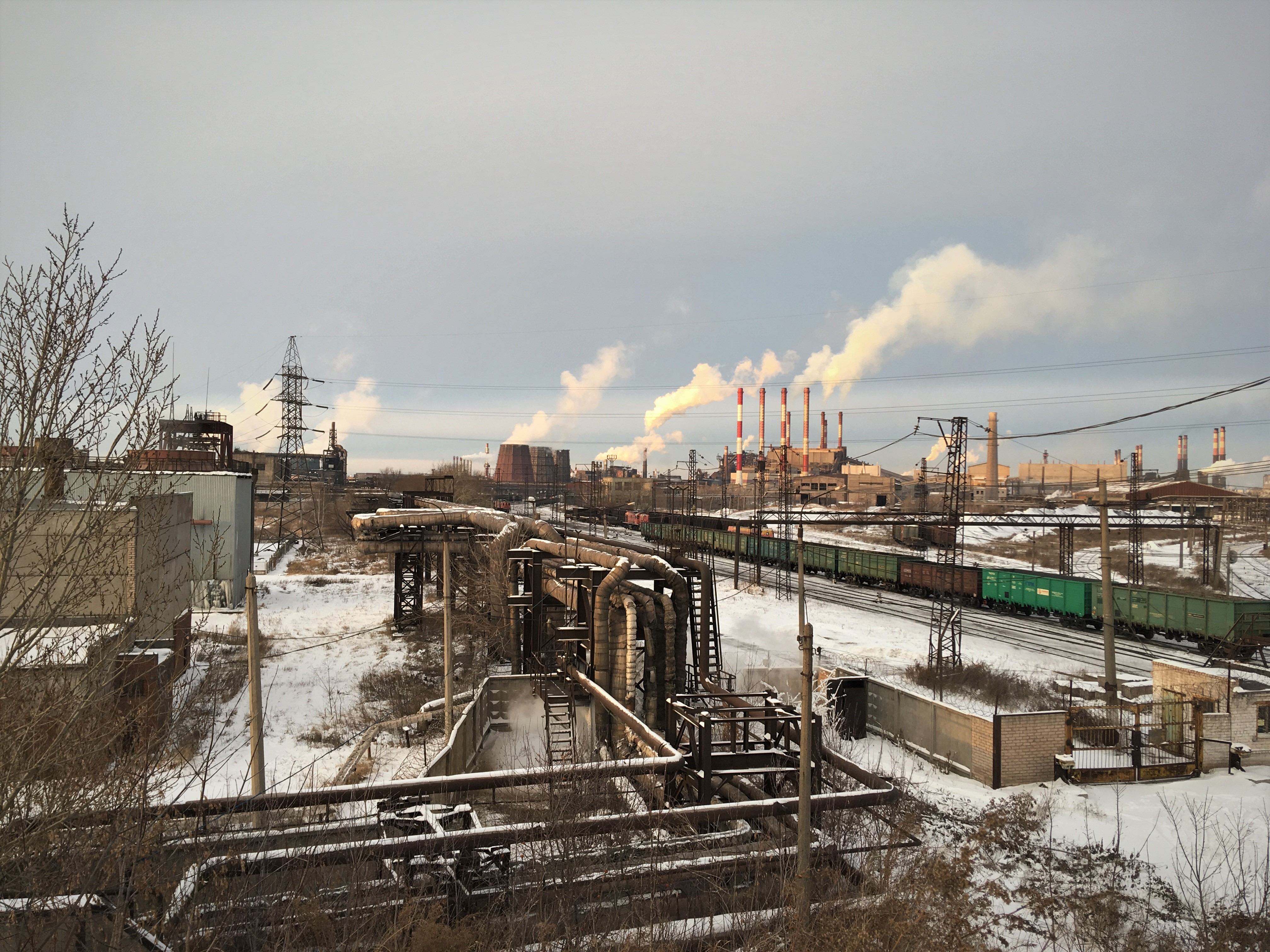 Район ЧМЗ. Мост на ул.Монтажников