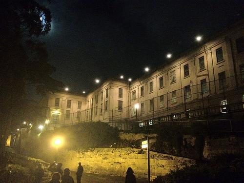 Алькатрас ночью