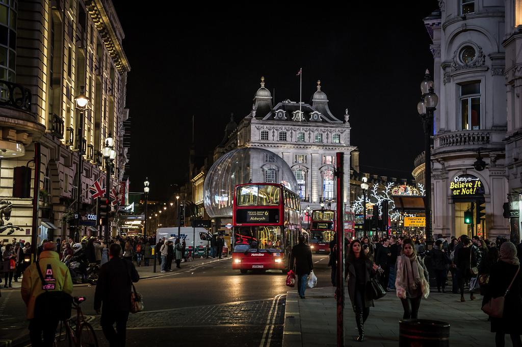 Центр Лондона: ночной маршрут