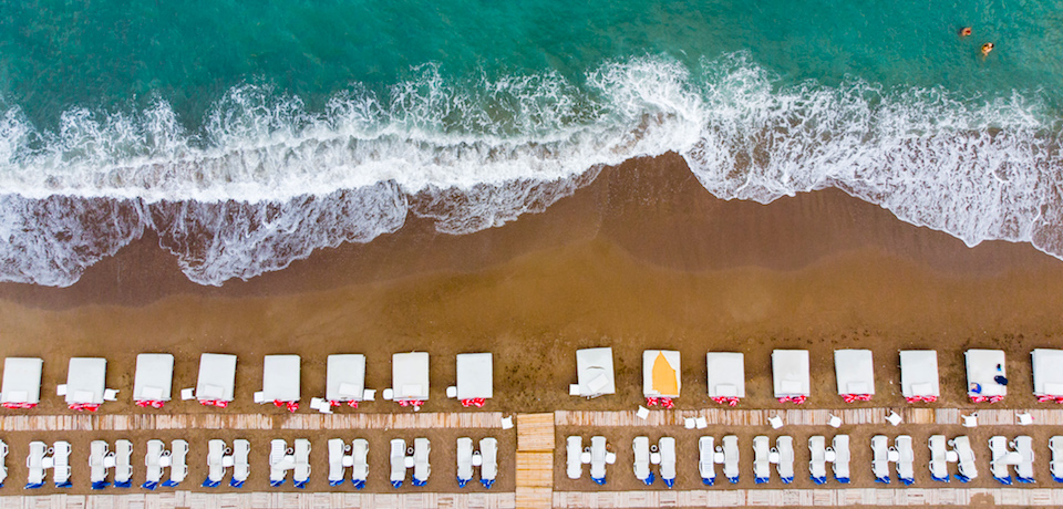 Кумлук, пляж голубого флага