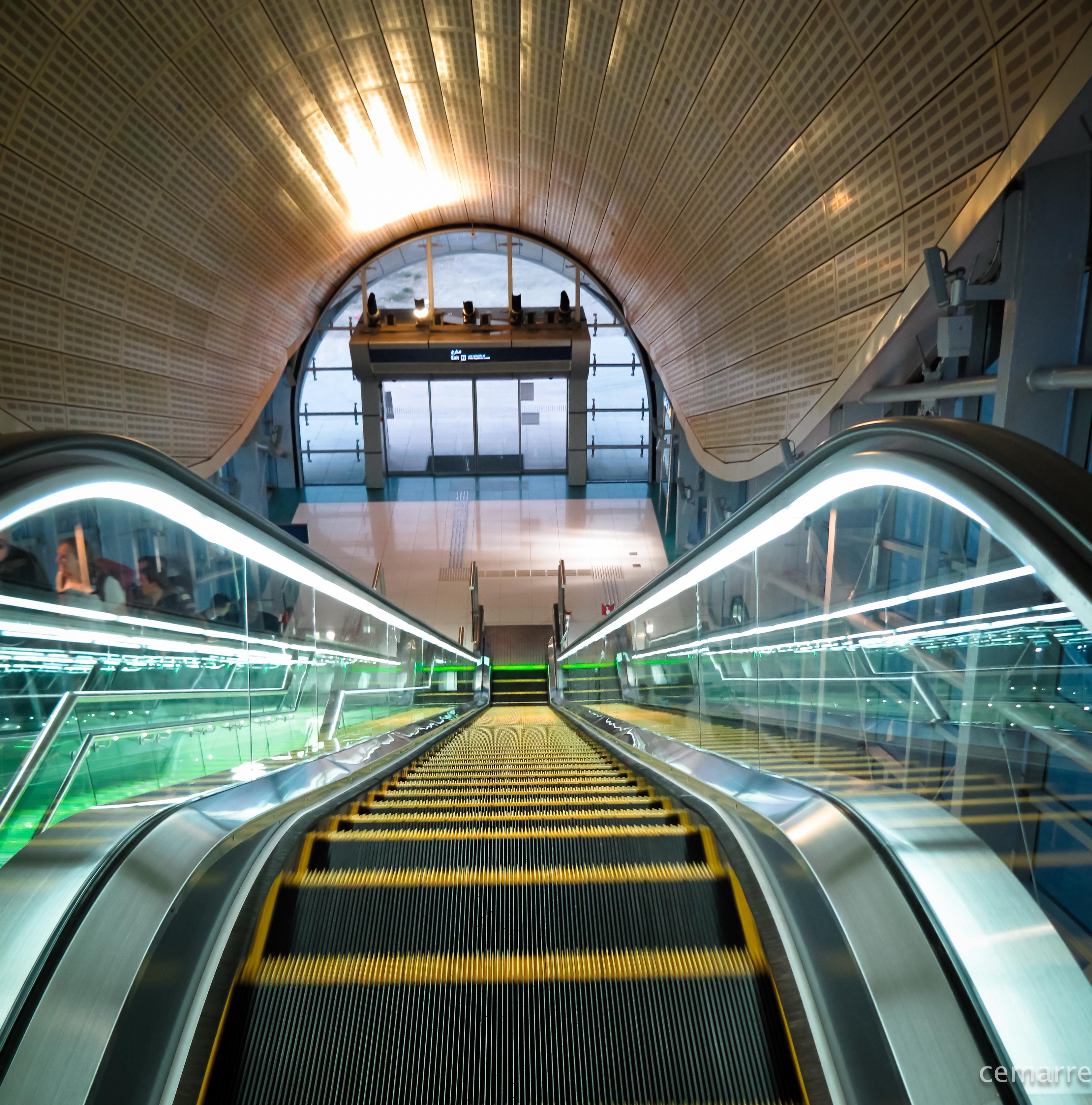 На метро из аэропорта